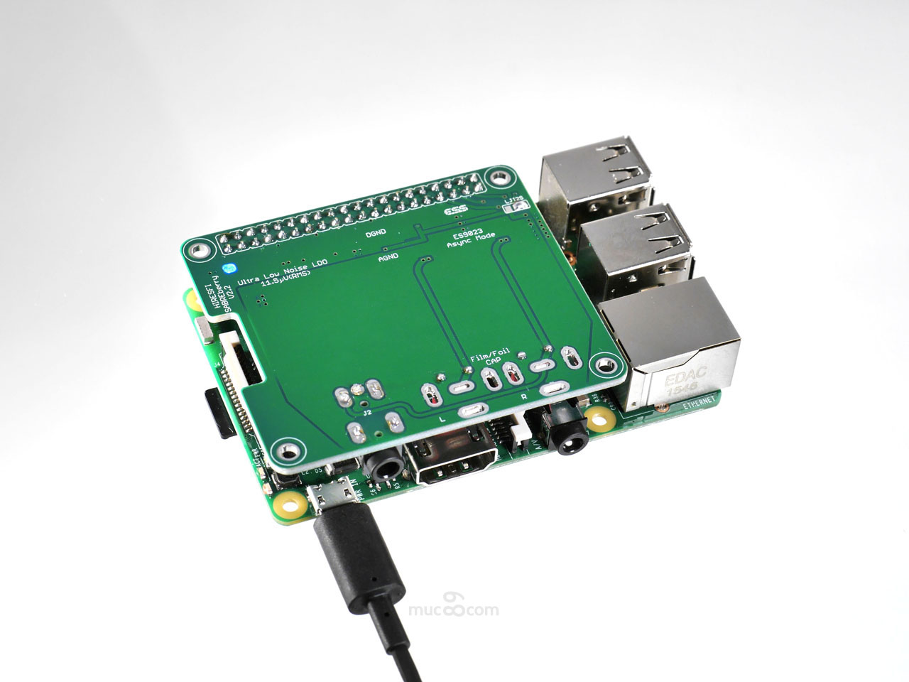 SABREberry ES9023 DAC for RasPi2