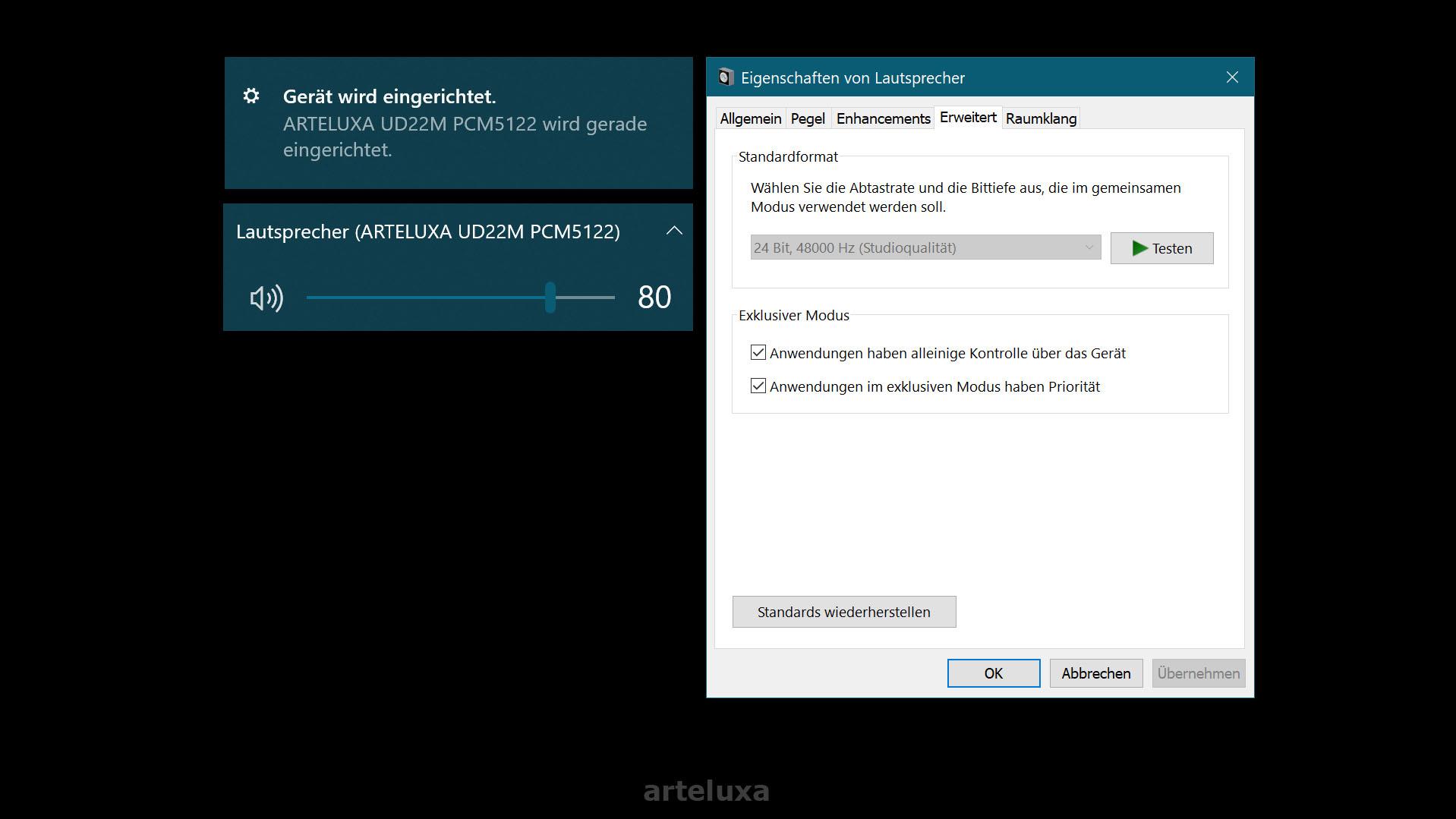 arteluxa USB-C DAC UD22M Plug & Play HIRESFI